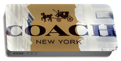 Portable Battery Charger featuring the photograph Coach New York Sign by Marianna Mills