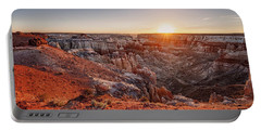 Coal Mine Canyon Sunrise Portable Battery Charger