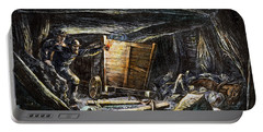 Coal Mine Explosion, 1873 Portable Battery Charger