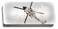 Portable Battery Charger featuring the photograph Coast Guard Helicopter by Aaron Berg