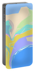 Portable Battery Charger featuring the digital art Coast Of Azure by Gina Harrison