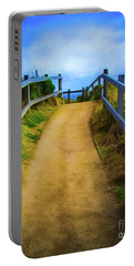 Portable Battery Charger featuring the photograph Coast Path by Perry Webster