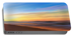 Portable Battery Charger featuring the digital art Coastal Beach Sunrise by Anthony Fishburne