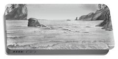 Coastal Beach Portable Battery Charger by Terry Frederick