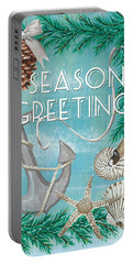 Coastal Christmas Card Portable Battery Charger