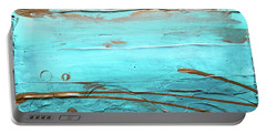 Coastal Escape I Textured Abstract Portable Battery Charger