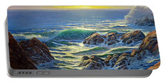 Coastal Evening Portable Battery Charger by Frank Wilson