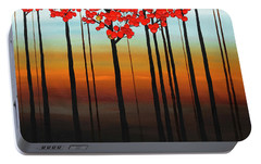 Portable Battery Charger featuring the painting Coastal Radiance by Carmen Guedez