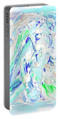 Portable Battery Charger featuring the painting Coastal Splash by Monique Faella