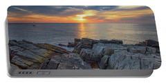 Coastal Sunrise On The Cliffs Portable Battery Charger