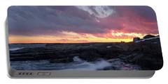 Coastal Sunset Cape Neddick - York Maine  -21056 Portable Battery Charger