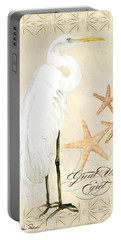 Coastal Waterways - Great White Egret Portable Battery Charger