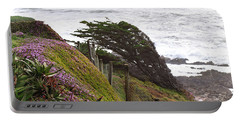 Coastal Windblown Trees Portable Battery Charger