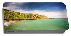 Coastline Of Kent Uk Portable Battery Charger by Chris Smith