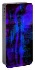Cobalt Glass Abstract 1 Portable Battery Charger