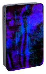 Portable Battery Charger featuring the photograph Cobalt Glass Abstract 1 by Suzanne Stout