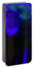 Cobalt Glass Abstract 2 Portable Battery Charger