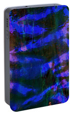 Portable Battery Charger featuring the photograph Cobalt Glass Abstract 3 by Suzanne Stout