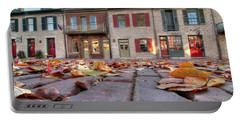 Cobblestone And Leaves Portable Battery Charger