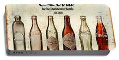 Coca-cola Bottle Evolution Vintage Sign Portable Battery Charger