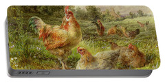Cochin China Fowls Portable Battery Charger by George Hickin