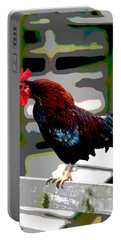 Cock Crowing Portable Battery Charger by Charles Shoup