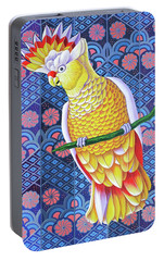 Cockatoo Portable Battery Charger by Jane Tattersfield