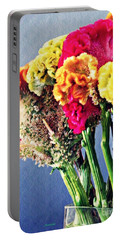 Portable Battery Charger featuring the photograph Cockscomb Bouquet 2 by Sarah Loft