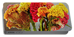 Portable Battery Charger featuring the photograph Cockscomb Bouquet 3 by Sarah Loft