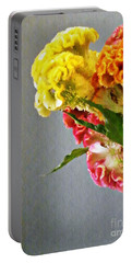 Portable Battery Charger featuring the photograph Cockscomb Bouquet 4 by Sarah Loft