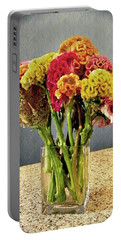 Portable Battery Charger featuring the photograph Cockscomb Bouquet by Sarah Loft