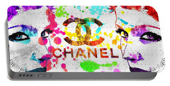 Coco Chanel Grunge Portable Battery Charger by Daniel Janda