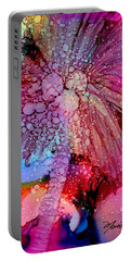 Portable Battery Charger featuring the painting Coconut Palm Tree 4 by Marionette Taboniar