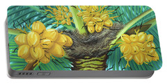 Coconut Palms Portable Battery Charger by Val Miller