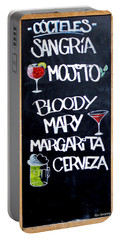Cocteles Spain Portable Battery Charger by Alan Armstrong