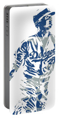 Cody Bellinger Los Angeles Dodgers Pixel Art 20 Portable Battery Charger
