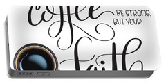 Coffee And Faith Portable Battery Charger