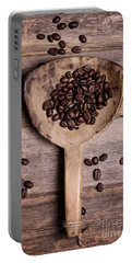 Coffee Beans In Antique Scoop. Portable Battery Charger