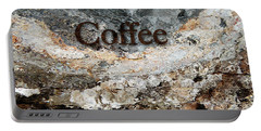 Coffee Edit 2 Brown Letters Portable Battery Charger by Margie Chapman