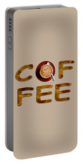 Coffee Funny Typography Portable Battery Charger by Georgeta Blanaru