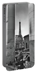 Portable Battery Charger featuring the photograph Coffee In Paris by Frank DiMarco