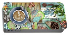 Coffee Shop Collage Portable Battery Charger