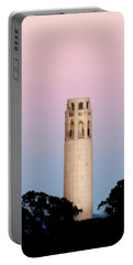 Coit Tower At Sunset Portable Battery Charger