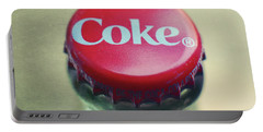 Portable Battery Charger featuring the photograph Coke Bottle Cap Square by Terry DeLuco