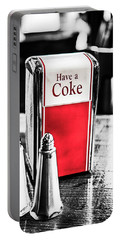 Portable Battery Charger featuring the photograph Coke Napkins by Karol Livote