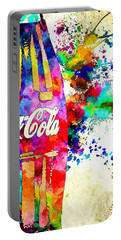 Cola Grunge Portable Battery Charger by Daniel Janda