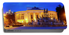 Portable Battery Charger featuring the photograph Colchis Fountain And Georgian Drama Theatre Lado Meskhishvili by Fabrizio Troiani