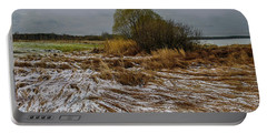 Portable Battery Charger featuring the photograph Cold Autumn Evening by Vladimir Kholostykh