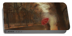 Cold Autumn Morning Painting Portable Battery Charger