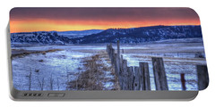 Cold Country Sunrise Portable Battery Charger